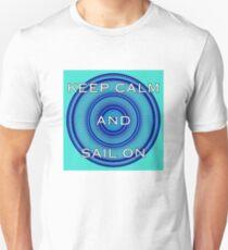 Mandala Art 23 - Keep Calm & Sail On T-Shirt