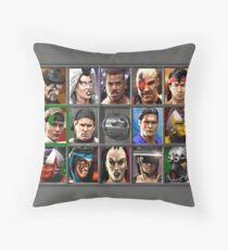 Mortal Kombat 3 Character Select  Throw Pillow
