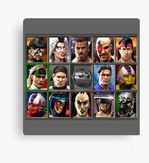 Mortal Kombat 3 Character Select  Canvas Print