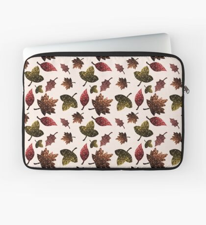 Sparkly leaves fall autumn sparkles pattern Laptop Sleeve