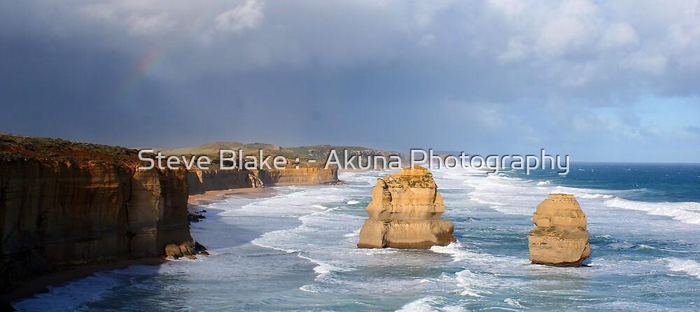 The Apostles Rainbow by Steve Blake : - Akuna Photography Bendigo