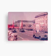 East German Communist Army at Berlin Wall, Celebration Parade - 2 Metal Print