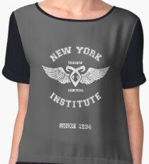 New York Institute Women's Chiffon Top