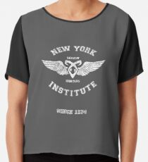 New York Institute Chiffon Top