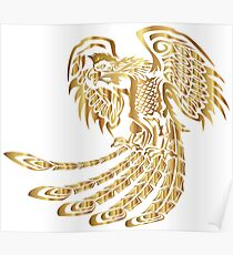 Golden Phoenix Rising Poster