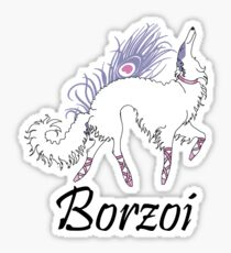Ballet Borzoi Sticker