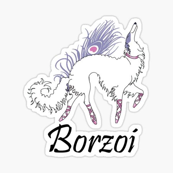 Ballet Borzoi Sticker
