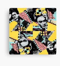 Frida Graffiti Homage to Frida Kahlo  Canvas Print