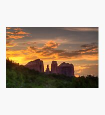 Sunset Sihlouette Photographic Print