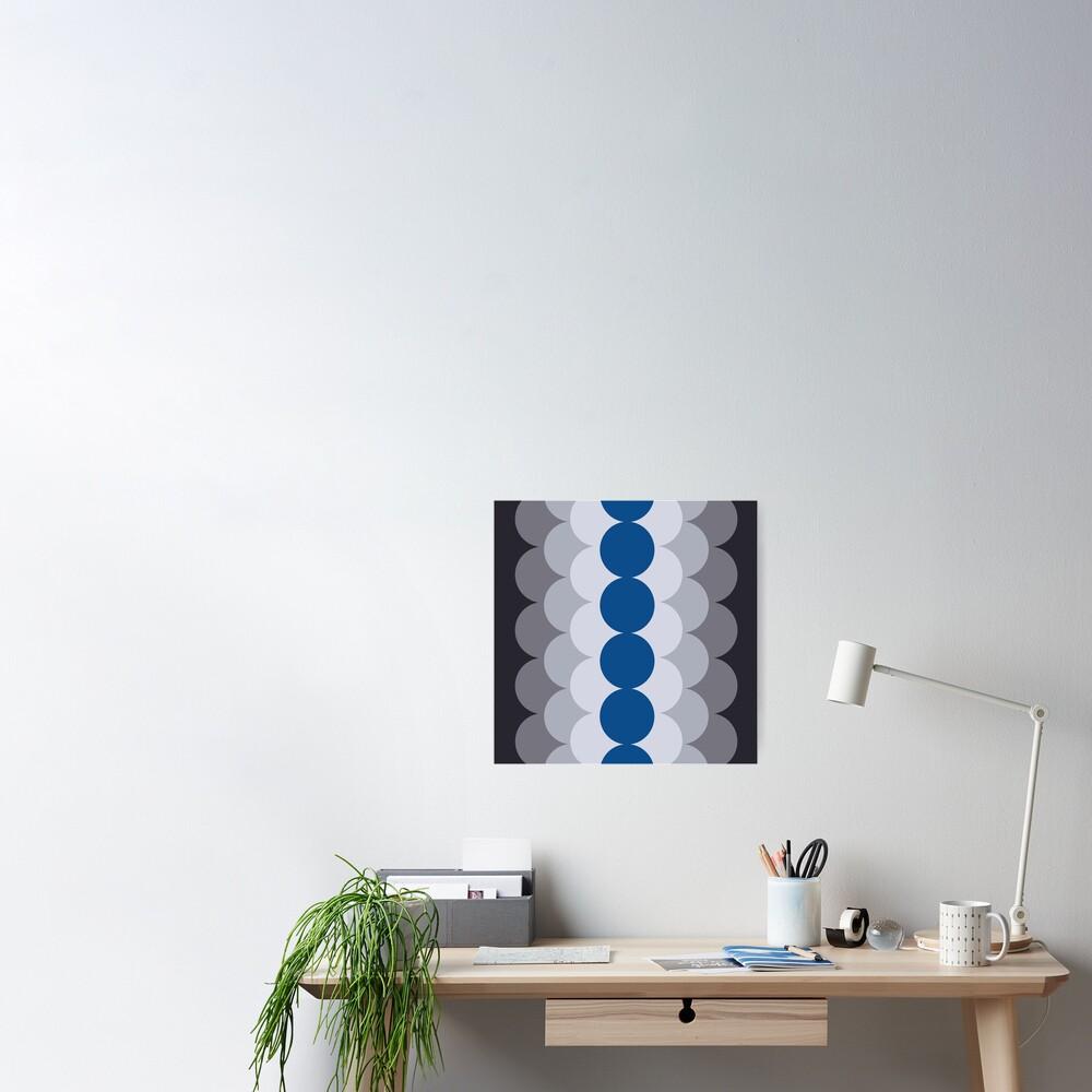 Gradual Lapis Blue Poster