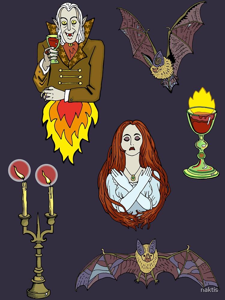 Vampire Halloween seamless pattern. by naktis