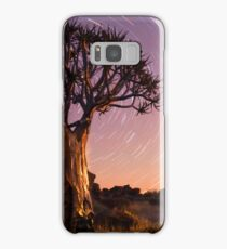Quiver tree beneath star trails Samsung Galaxy Case/Skin