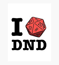 I HEART DND Photographic Print