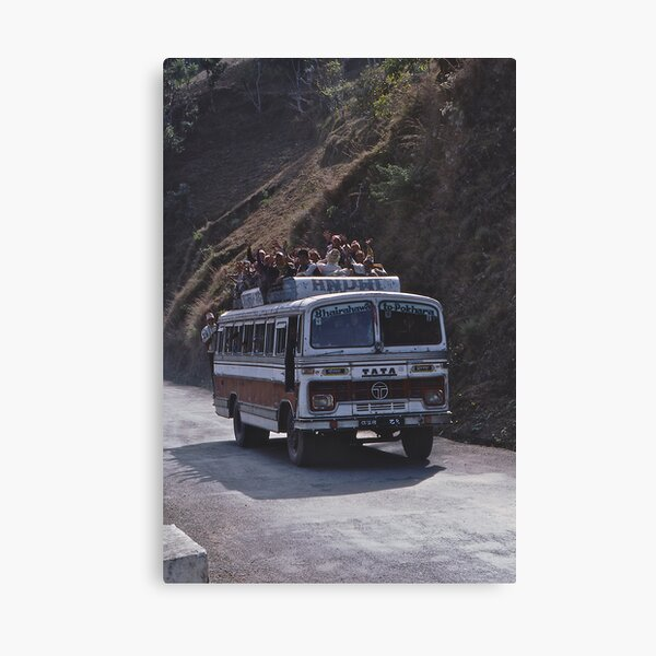 The Pokhara Bus! Canvas Print