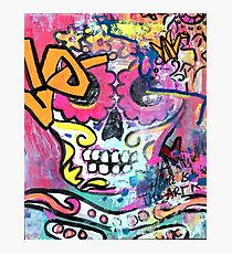 """Graffiti Sugar Skull  """"Home is Where Your Art Is"""" Photographic Print"""