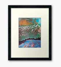 Sunset over the Ridged Mountains Framed Print