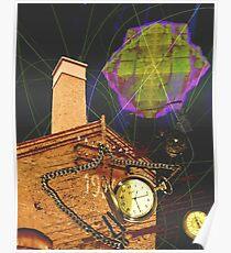 Old school timetraveling concept art Poster
