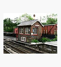 Signal Box at Goathland Photographic Print