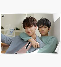 Seventeen's Jun and Minghao Poster