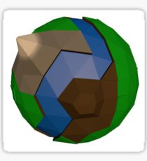 Low Poly Earth Style World Sticker