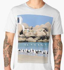 Birds on the beach Men's Premium T-Shirt