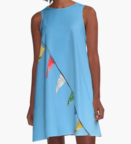 Bunte und minimale Party A-Linien Kleid