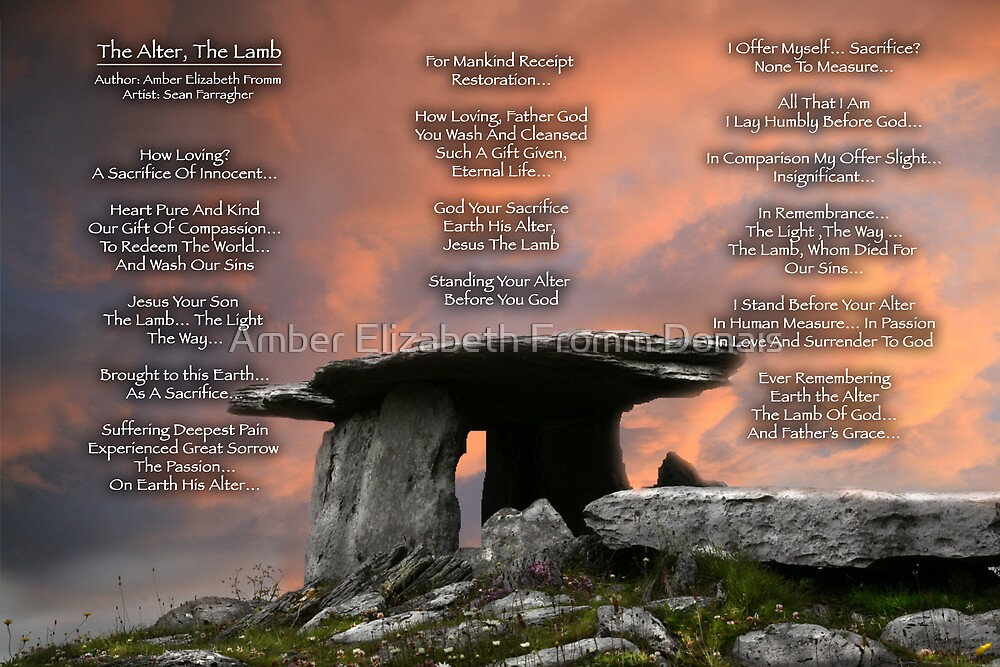 The Alter ...The Lamb  by Amber Elizabeth Fromm Donais