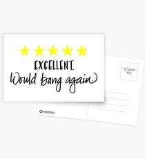 Anniversary Card. Naughty Card. Would Bang Again Postcards