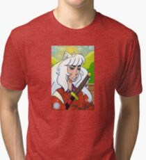 Inuyasha has a chill day Tri-blend T-Shirt