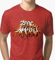 2PAC AMARU SHAKUR GRAFFITI SPLASH Tri-blend T-Shirt