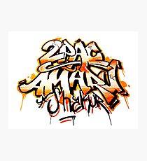2PAC AMARU SHAKUR GRAFFITI SPLASH Photographic Print