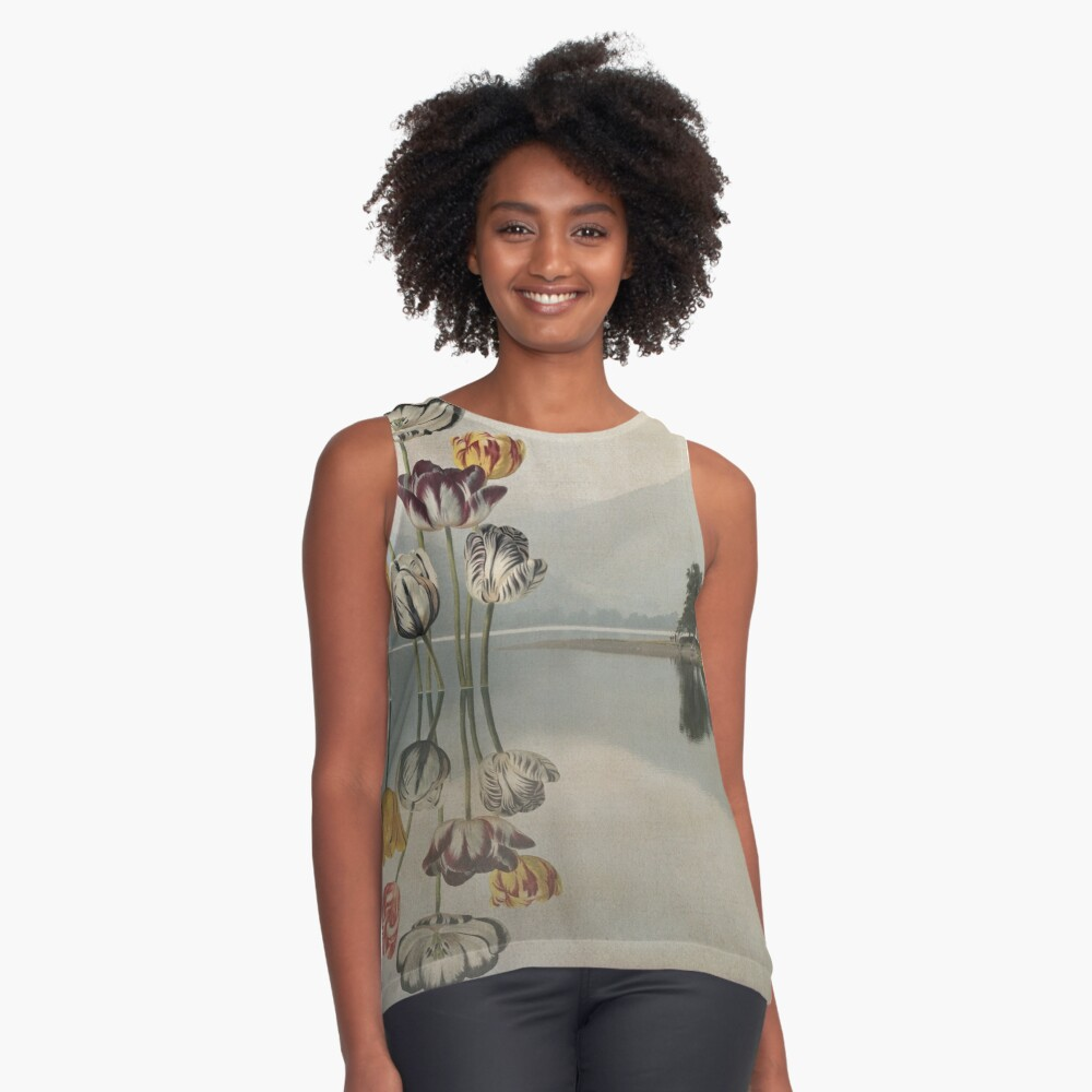 Still waters run deep - Digital Collage by Cecca Designs Contrast Tank Front