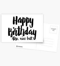 Birthday Card - Happy Birthday! Also, Nice Butt Postcards
