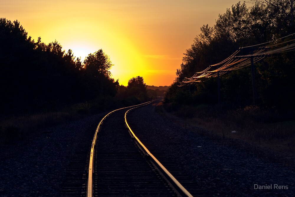 Tracks Into the Sunset by Daniel Rens