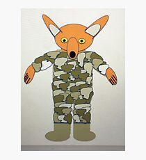 Mr Foxy British Army Photographic Print