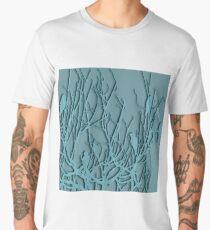 Sitting blue birds Men's Premium T-Shirt