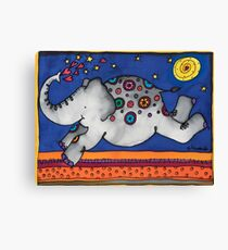 Whimsical elephant, Felicity, will make you smile Canvas Print