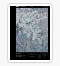 USGS TOPO Map Idaho ID Heart Mountain 20110127 TM Inverted Sticker
