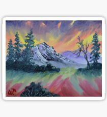 Mountain Sky - 8X10 in oil. Sticker