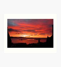 Winter morning on Scapa Flow Art Print