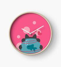 Pink Wool Web  Clock