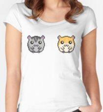 Cute Hamsters!  Women's Fitted Scoop T-Shirt