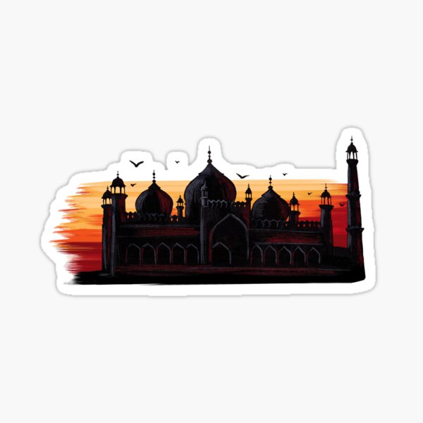 Badshahi Mosque - Islamic Art Sticker