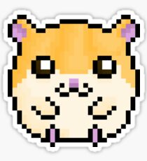 Cute Hamster! (Sandy Coloured) Sticker