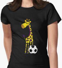 Cool Funny Giraffe Playing Football or Soccer T-Shirt