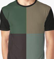 Military-Camo Colours Theme Graphic T-Shirt