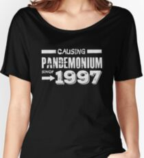 Causing Pandemonium Since 1997 - Funny Birthday Women's Relaxed Fit T-Shirt