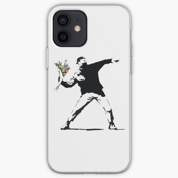 Homme de fleur - Street art Coque souple iPhone