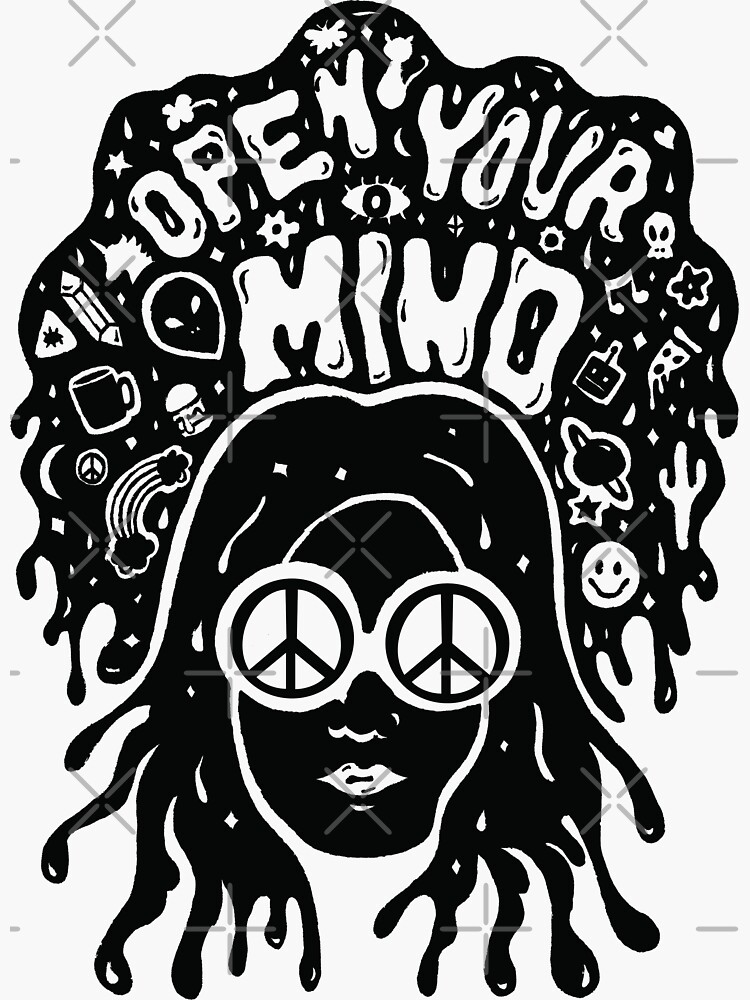 Open Your Mind in black by doodlebymeg