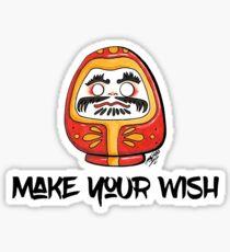 Make your wish - Daruma doll (RED) Sticker